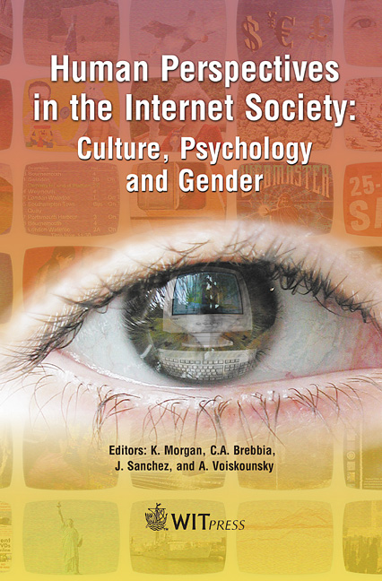 Human Perspectives in the Internet Society: Culture, Psychology and Gender