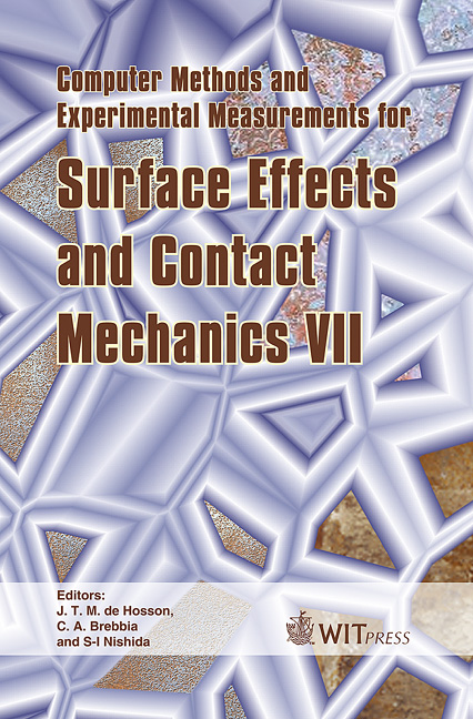 Computer Methods and Experimental Measurements for Surface Effects and Contact Mechanics VII