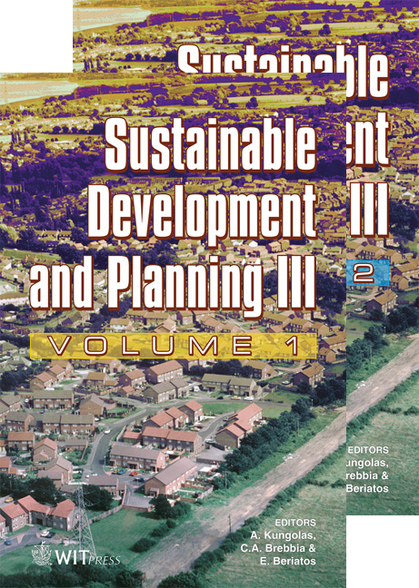 Sustainable Development and Planning III - 2 Volume Set