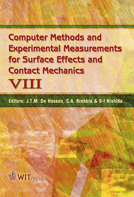 Computer Methods and Experimental Measurements for Surface Effects and Contact Mechanics VIII