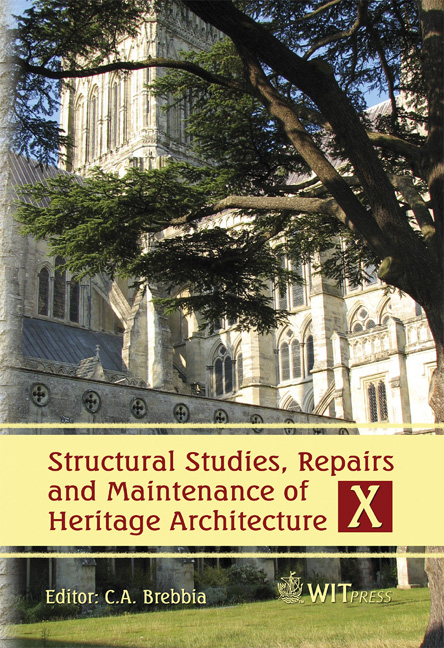 structural studies repairs and maintenance of heritage architecture xi brebbia c a