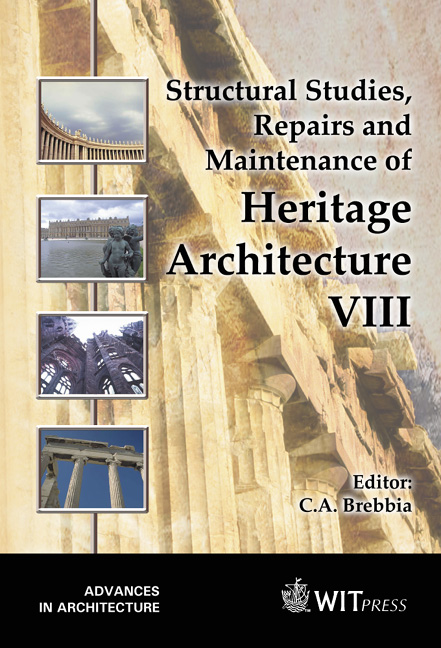 Structural Studies, Repairs and Maintenance of Heritage Architecture VIII