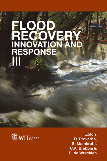Flood Recovery, Innovation and Response III