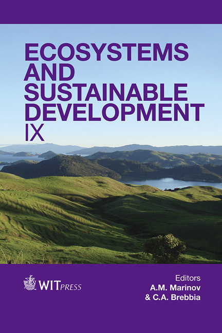 Ecosystems and Sustainable Development IX