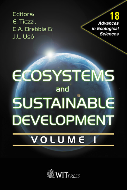 Ecosystems and Sustainable Development IV - Volume 1