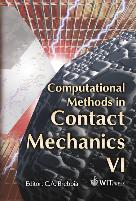 Computational Methods in Contact Mechanics VI