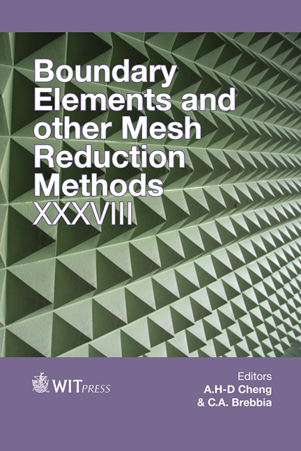 Boundary Elements and Other Mesh Reduction Methods XXXVIII