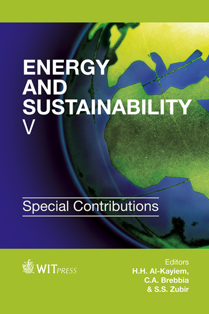 Energy and Sustainability V: Special Contributions