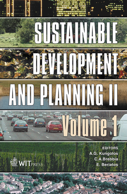 Sustainable Development and Planning II, Vol 1
