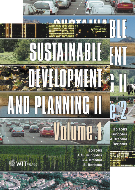 Sustainable Development and Planning II - 2 Volume Set