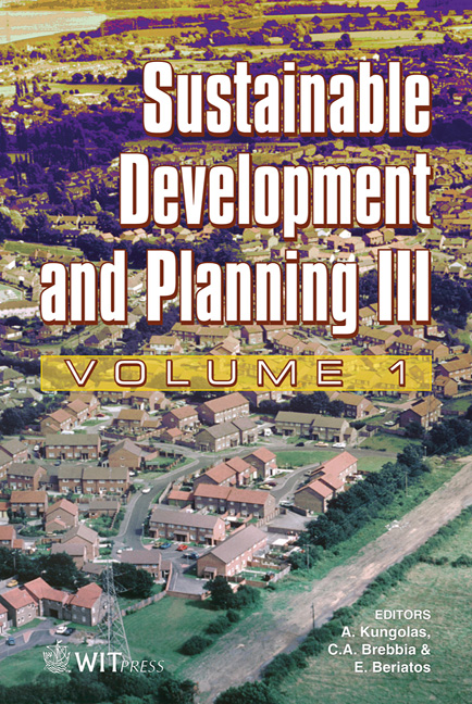 Sustainable Development and Planning III Volume 1