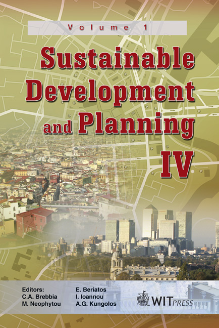 Sustainable Development and Planning IV - Volume 1