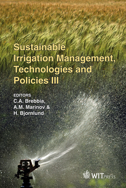 Sustainable Irrigation Management, Technologies and Policies III
