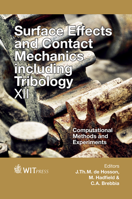 Surface Effects and Contact Mechanics including Tribology XII