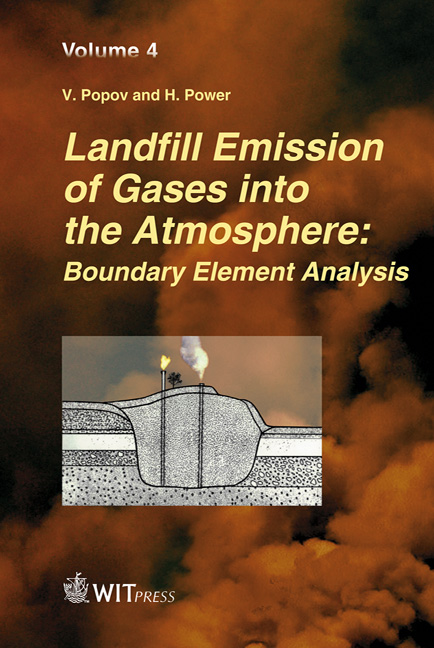 Landfill Emission of Gases into the Atmosphere: Boundary Element Analysis
