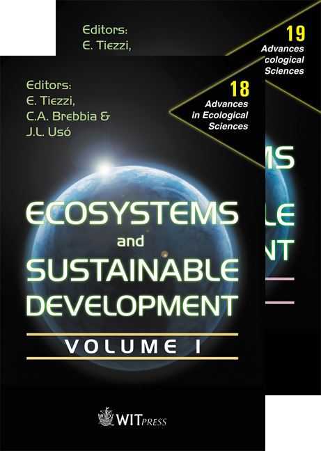 Ecosystems and Sustainable Development IV - 2 Volume Set